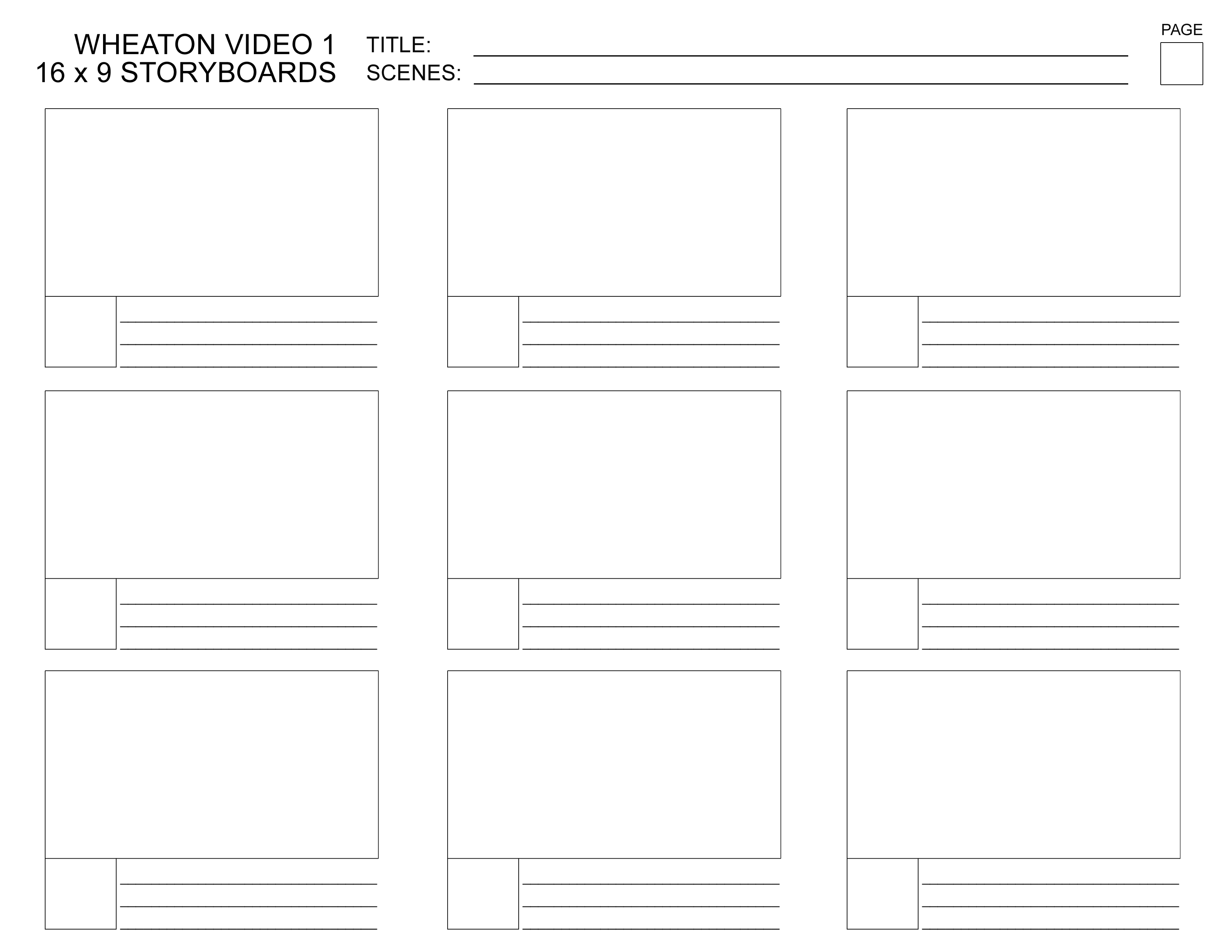 Storyboard template word pzChMdwi